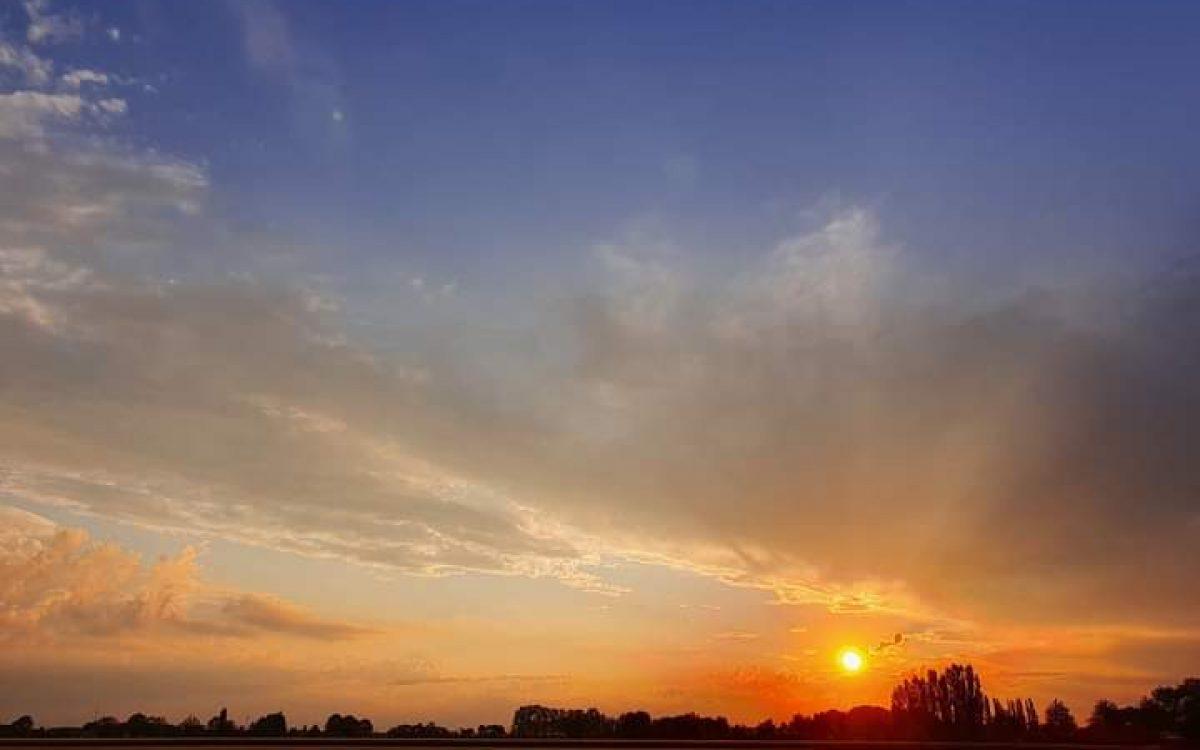 De natuur mooi op elk moment van de dag