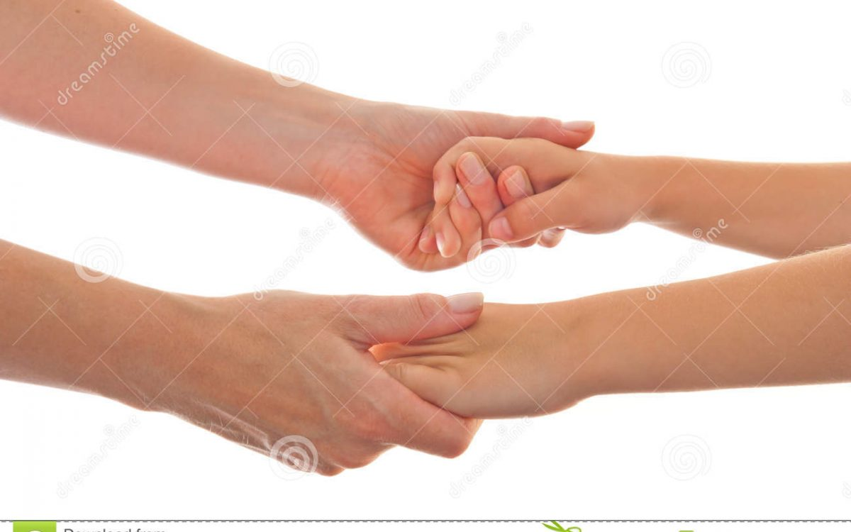 moeder-en-kind-die-beide-handen-geven-20735932